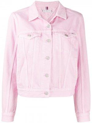 Джинсовая куртка Tommy Hilfiger. Цвет: розовый
