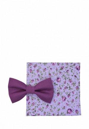 Бабочка и платок Rainbowtie. Цвет: фиолетовый