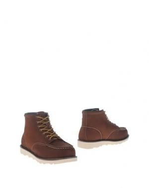 Полусапоги и высокие ботинки DUDE. Цвет: какао