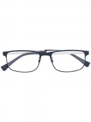 Солнцезащитные очки EA1112 в прямоугольной оправе Emporio Armani. Цвет: серебристый