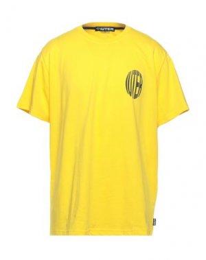Футболка IUTER. Цвет: желтый