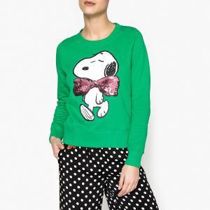 Свитшот Snoopy PALMO ESSENTIEL ANTWERP. Цвет: зеленый