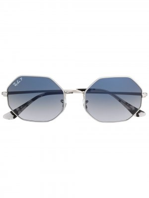 0RB1972914978 geometric-frame sunglasses Ray-Ban. Цвет: серебристый