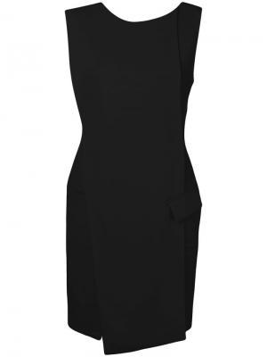 Wrap front mini dress Antonio Berardi. Цвет: черный