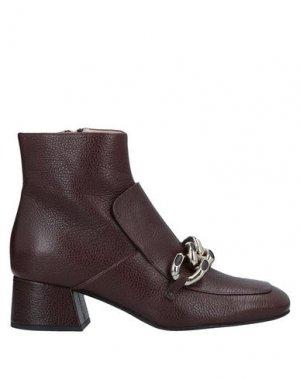 Полусапоги и высокие ботинки ALBERTO GOZZI. Цвет: коричневый