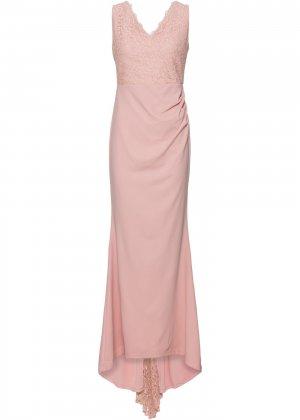 Платье свадебное bonprix. Цвет: розовый