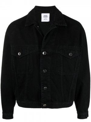 Джинсовая куртка с логотипом Opening Ceremony. Цвет: черный