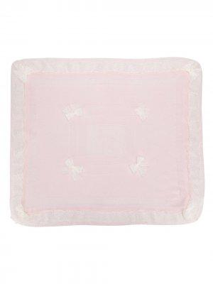 Одеяло с кружевом и бантом Aletta. Цвет: розовый