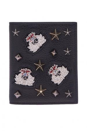 Кожаный кошелек M Paros Christian Louboutin. Цвет: черный