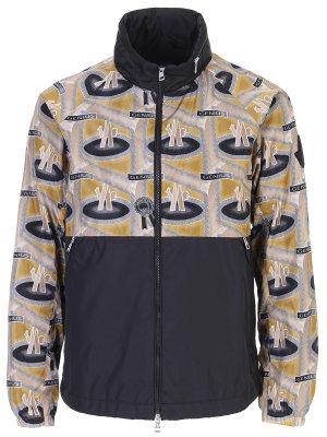 Куртка-ветровка с принтом MONCLER
