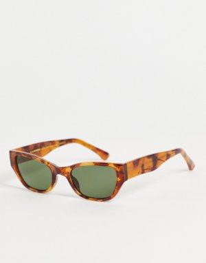 Солнцезащитные очки унисекс в светло-коричневой черепаховой оправе «кошачий глаз» Kanye-Коричневый цвет A.Kjaerbede
