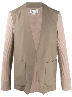 Комбинированный пиджак Maison Margiela. Цвет: нейтральные цвета