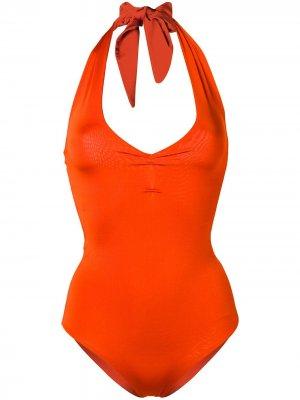 Слитный купальник Forte. Цвет: оранжевый