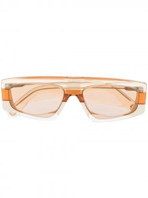 Солнцезащитные очки Yauco в геометричной оправе Jacquemus. Цвет: оранжевый