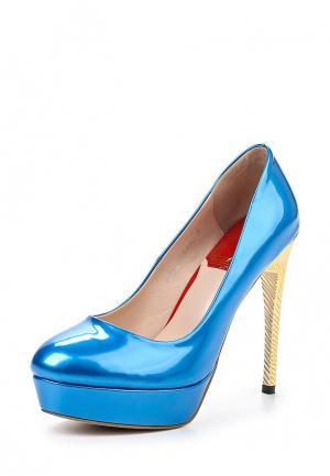 Туфли Elsi. Цвет: голубой