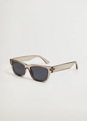Солнцезащитные очки в квадратной оправе - Nadia Mango. Цвет: серый