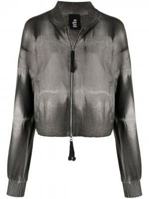 Выбеленная куртка Thom Krom. Цвет: черный