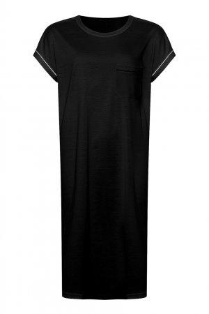 Сорочка черного цвета Parce que ERES. Цвет: черный