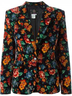 Пиджак с цветочным принтом Kenzo Pre-Owned. Цвет: черный