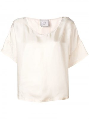 Блузка с короткими рукавами Alysi. Цвет: бежевый