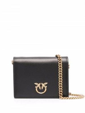 Mini Love leather bag Pinko. Цвет: черный