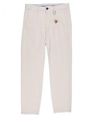 Повседневные брюки GAUDÌ. Цвет: слоновая кость