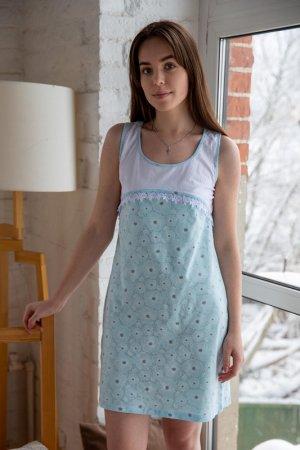 Ночная сорочка Lika dress. Цвет: голубой