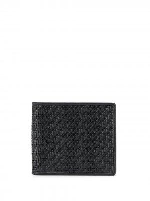 Плетеный бумажник Ermenegildo Zegna. Цвет: черный
