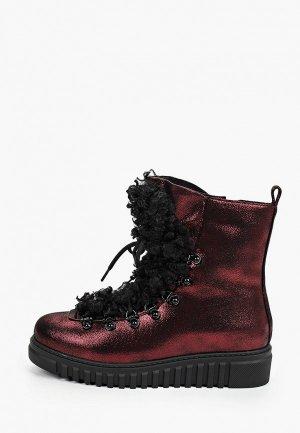 Ботинки King Boots. Цвет: бордовый