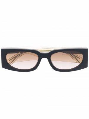 Солнцезащитные очки в прямоугольной оправе Gcds. Цвет: нейтральные цвета