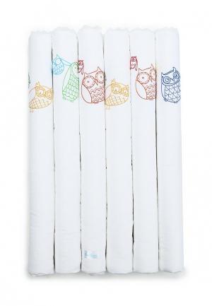 Бортик для детской кровати Cloud factory Funny Owls. Цвет: белый