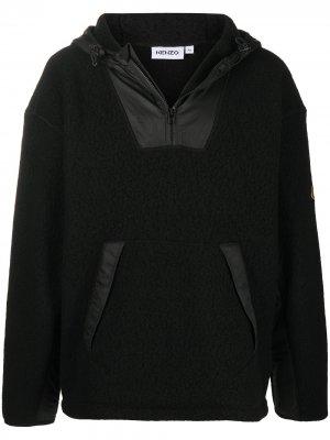 Флисовая куртка с капюшоном Kenzo. Цвет: черный