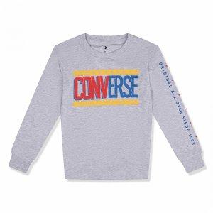 Collegiate Mix Up Long Sleeve Tee Converse. Цвет: серый