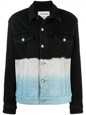 Джинсовая куртка Kase с принтом тай-дай Zadig&Voltaire. Цвет: синий