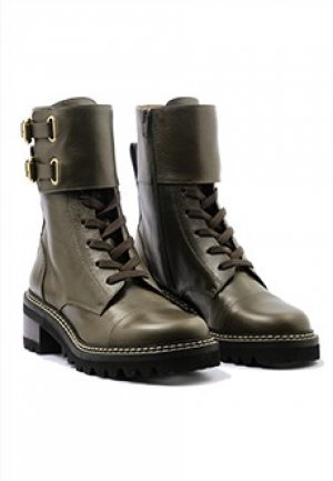 Ботинки SEE BY CHLOE. Цвет: зеленый