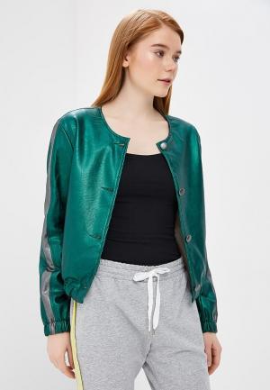 Куртка кожаная Rinascimento RI005EWANKL0. Цвет: зеленый