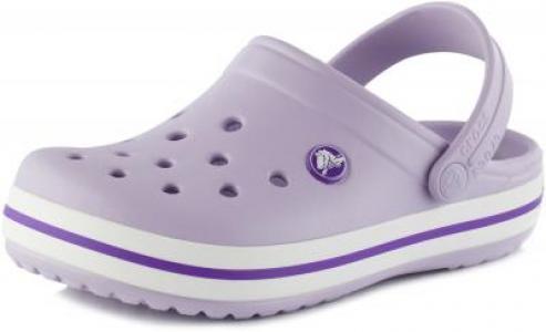 Шлепанцы для девочек Crocband Clog K, размер 31-32 Crocs. Цвет: фиолетовый