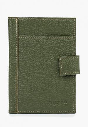 Обложка для паспорта Duffy. Цвет: зеленый