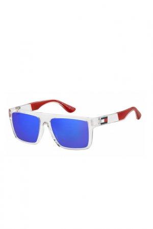 Солнцезащитные очки Tommy Hilfiger. Цвет: прозрачный
