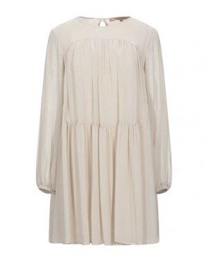 Короткое платье BABYLON. Цвет: бежевый
