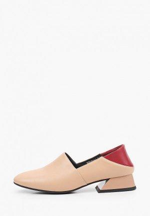 Туфли Inario. Цвет: бежевый