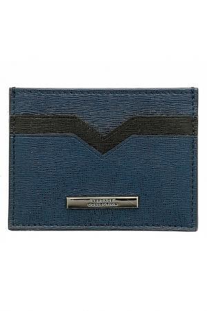 Визитница Versace Collection. Цвет: синий