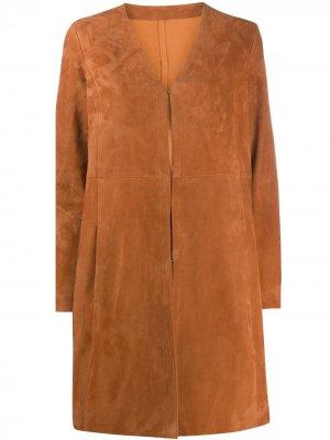 Структурированное пальто миди Drome. Цвет: оранжевый