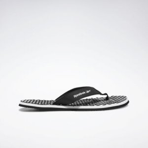 Сланцы Misces Reebok. Цвет: black / white / white