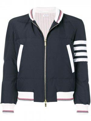 Куртка-бомбер с полосками 4-Bar Thom Browne. Цвет: синий