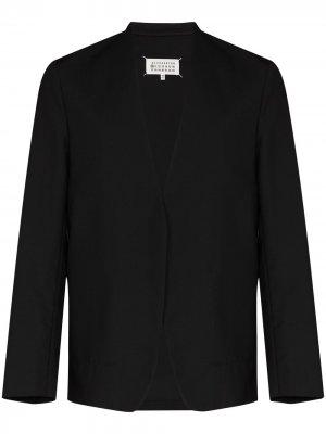 Однобортный пиджак без воротника Maison Margiela. Цвет: черный
