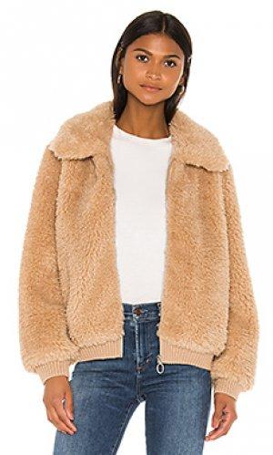 Куртка из искусственного меха mosey HEARTLOOM. Цвет: цвет загара