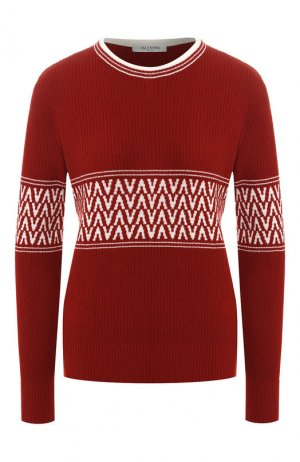 Пуловер из смеси шерсти и кашемира Valentino. Цвет: красный