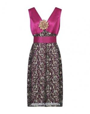 Платье длиной 3/4 CASTING. Цвет: фуксия