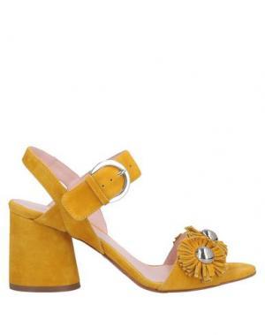 Сандалии ANNA F.. Цвет: желтый
